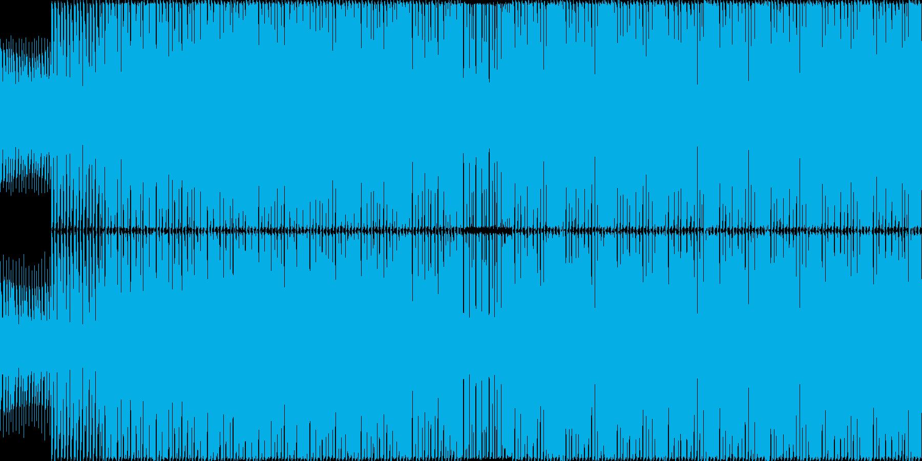 アップテンポで軽快なハウスインストの再生済みの波形