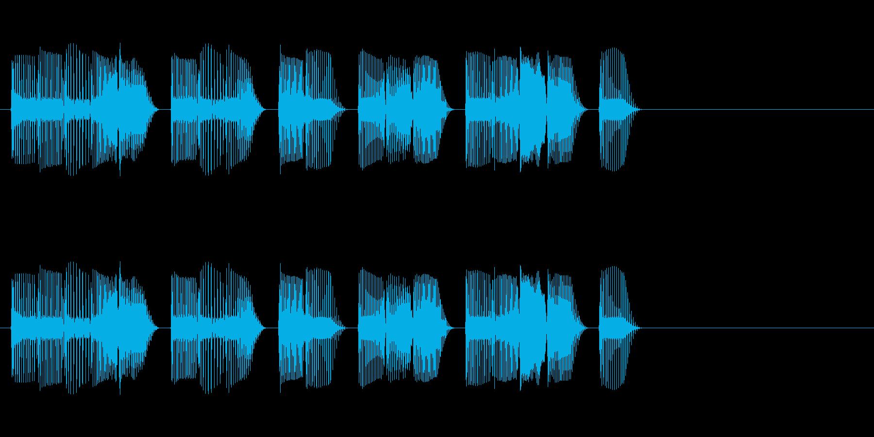 謎の宇宙人が喋る声の再生済みの波形