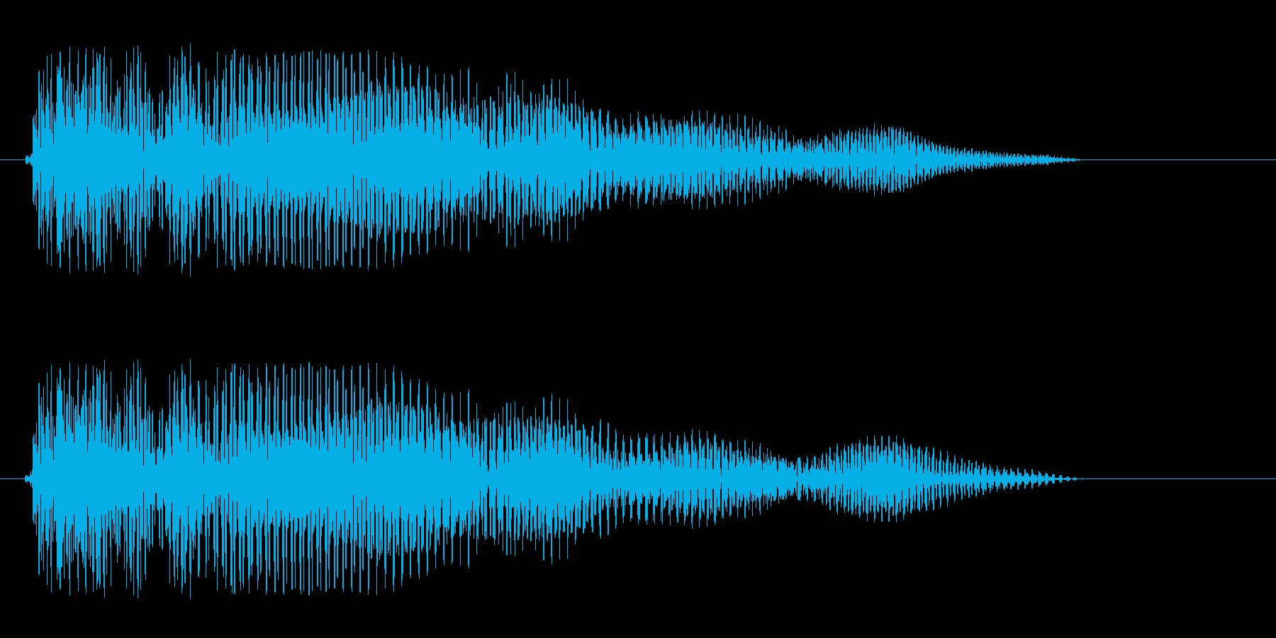 ウミョォーン、というコミカルな音の再生済みの波形