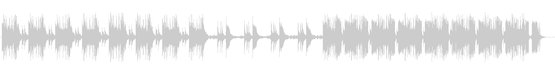 ひっそりとしたイメージのミュージックの未再生の波形