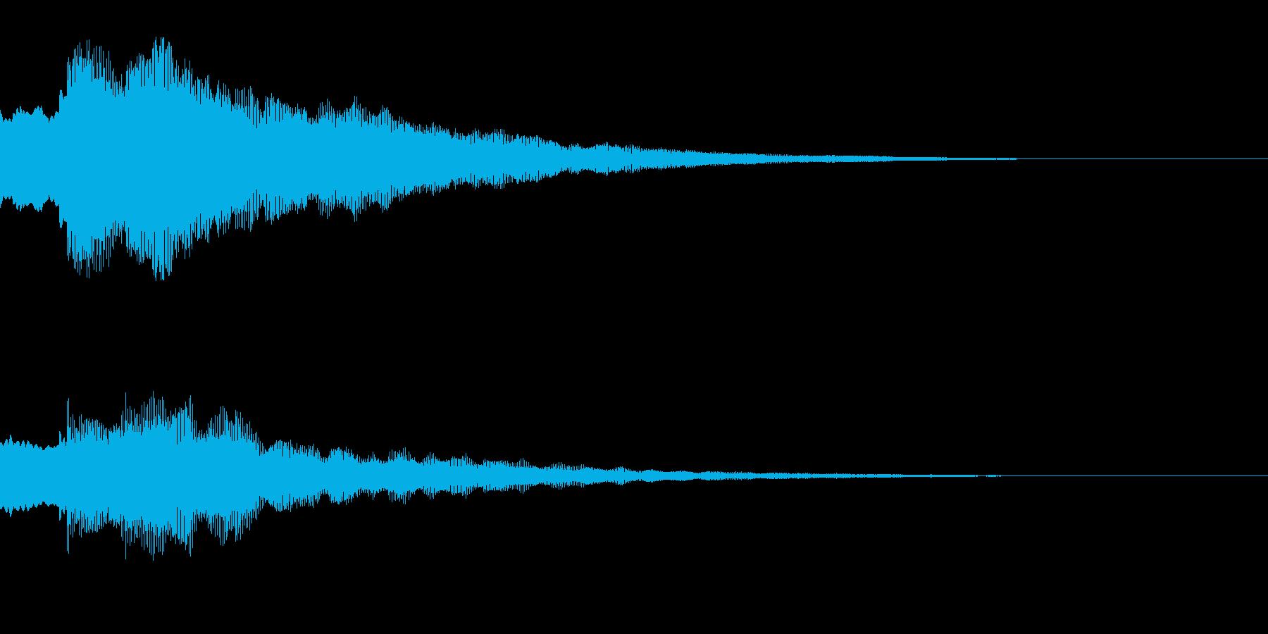 キラキラ(星/アイテム取得/決定)の再生済みの波形
