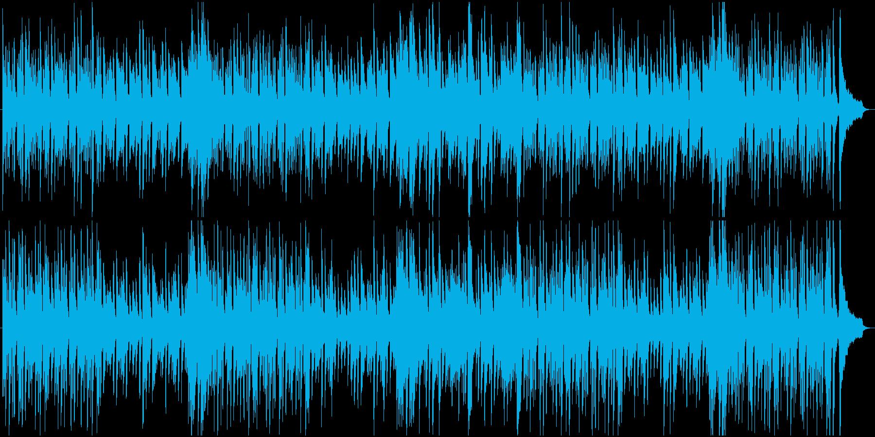 ピアノの軽やかなBGMの再生済みの波形