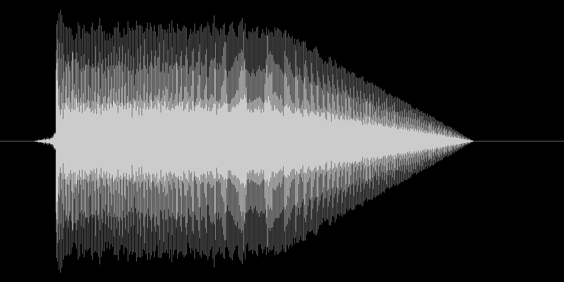 ゲーム(ファミコン風)ジャンプ音_011の未再生の波形