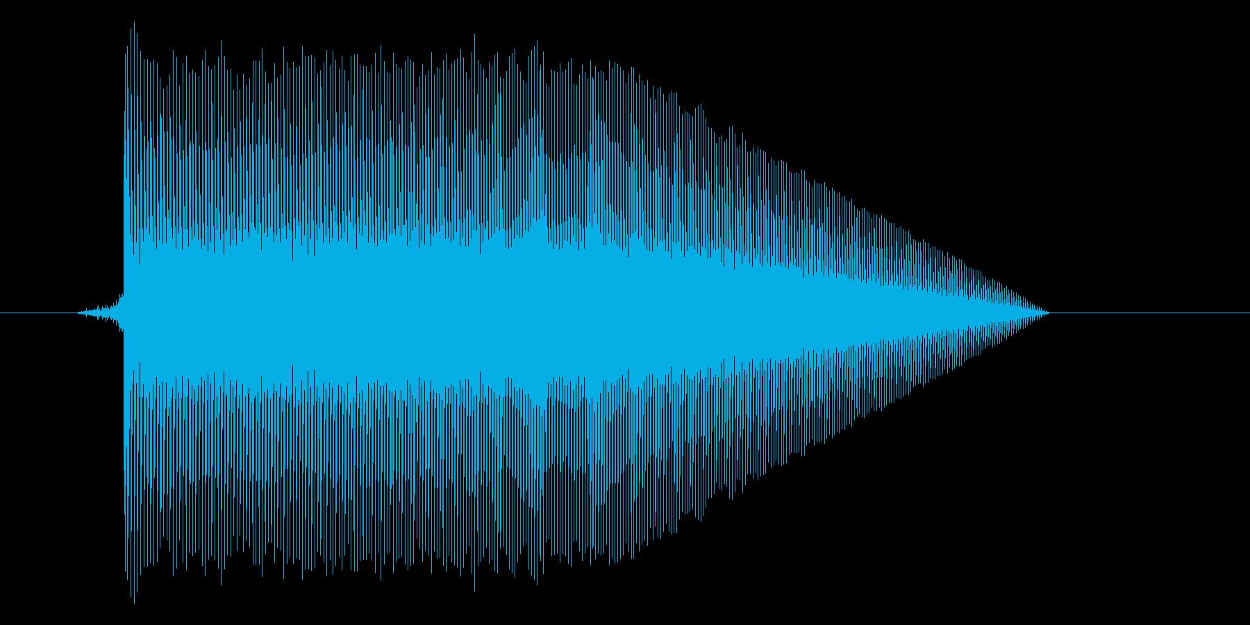 ゲーム(ファミコン風)ジャンプ音_011の再生済みの波形