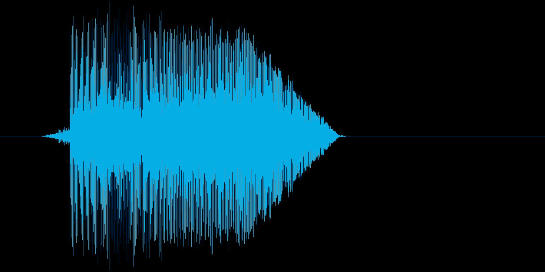 ゲーム(ファミコン風)ジャンプ音_019の再生済みの波形