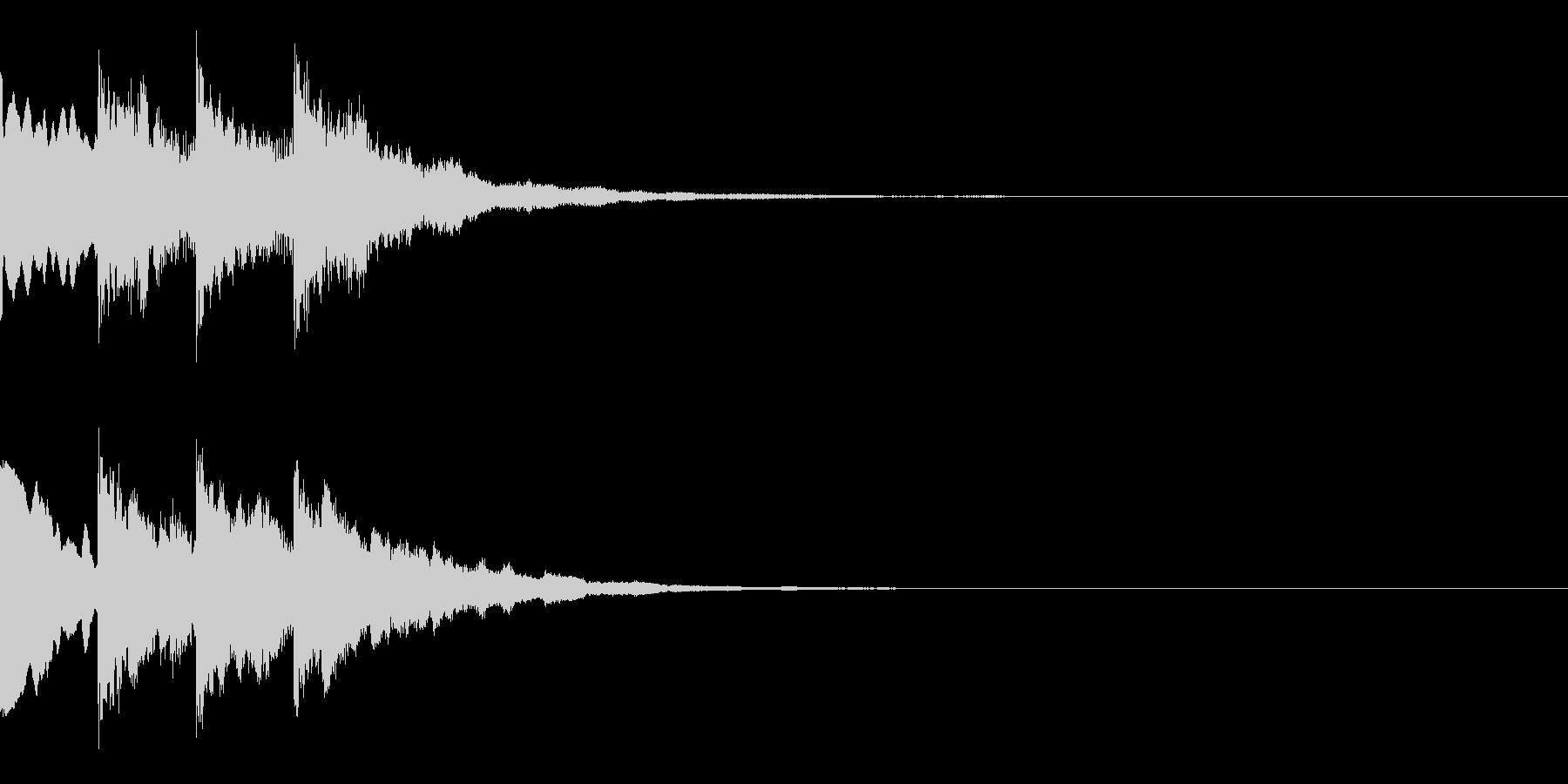 ピンポンパンポーン(呼び出し音)の未再生の波形