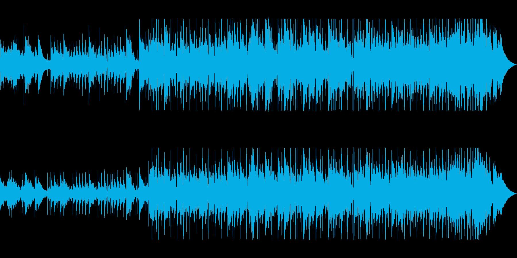 ゆっくりしたアコースティックギターの曲の再生済みの波形