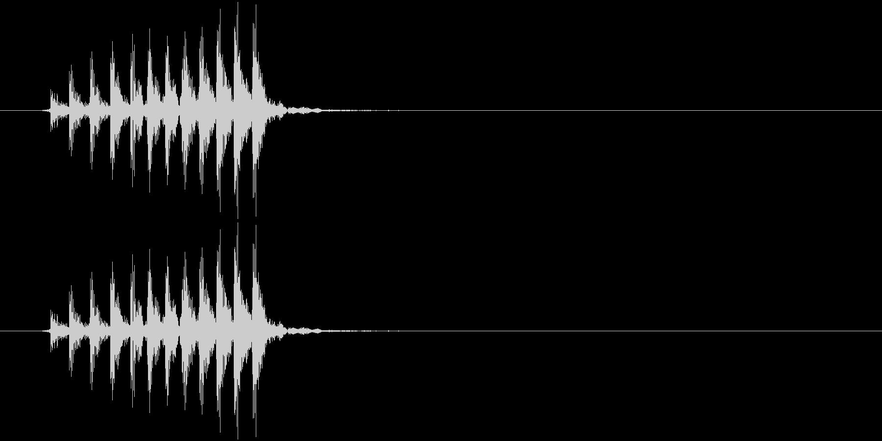 ギロの未再生の波形