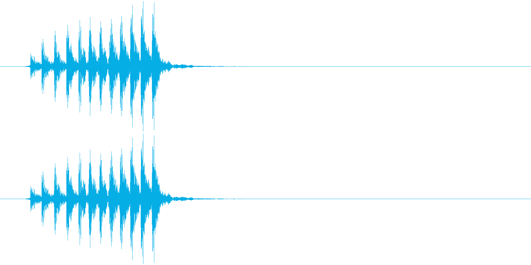 ギロの再生済みの波形