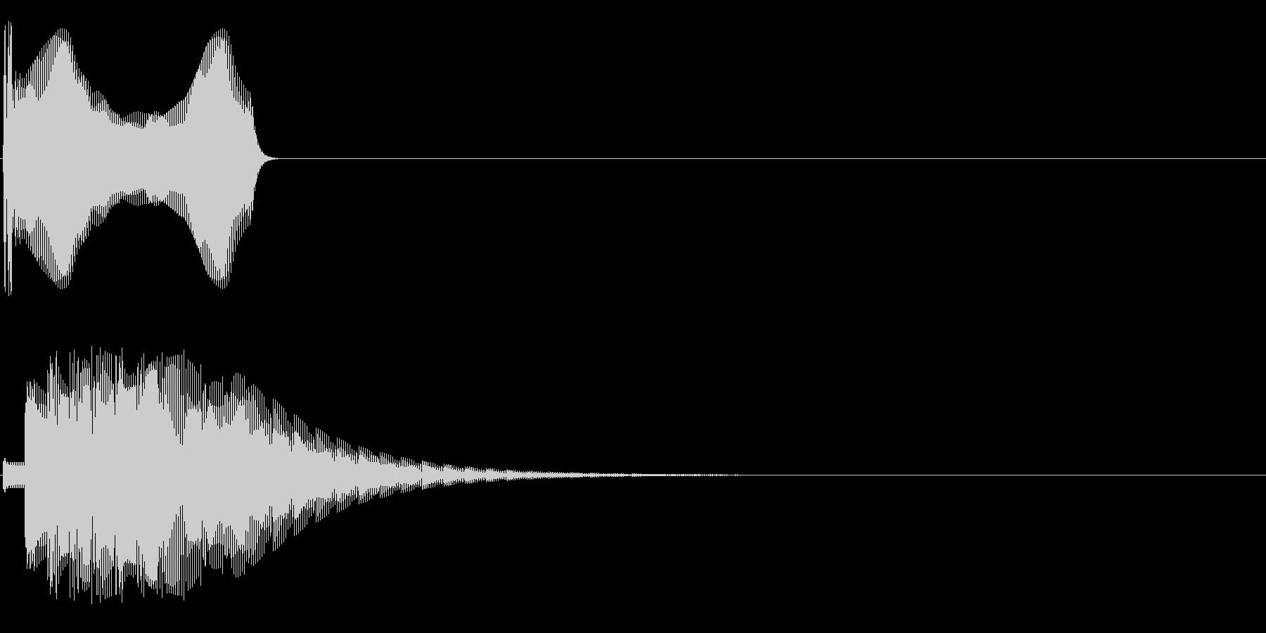 ッポォンの未再生の波形