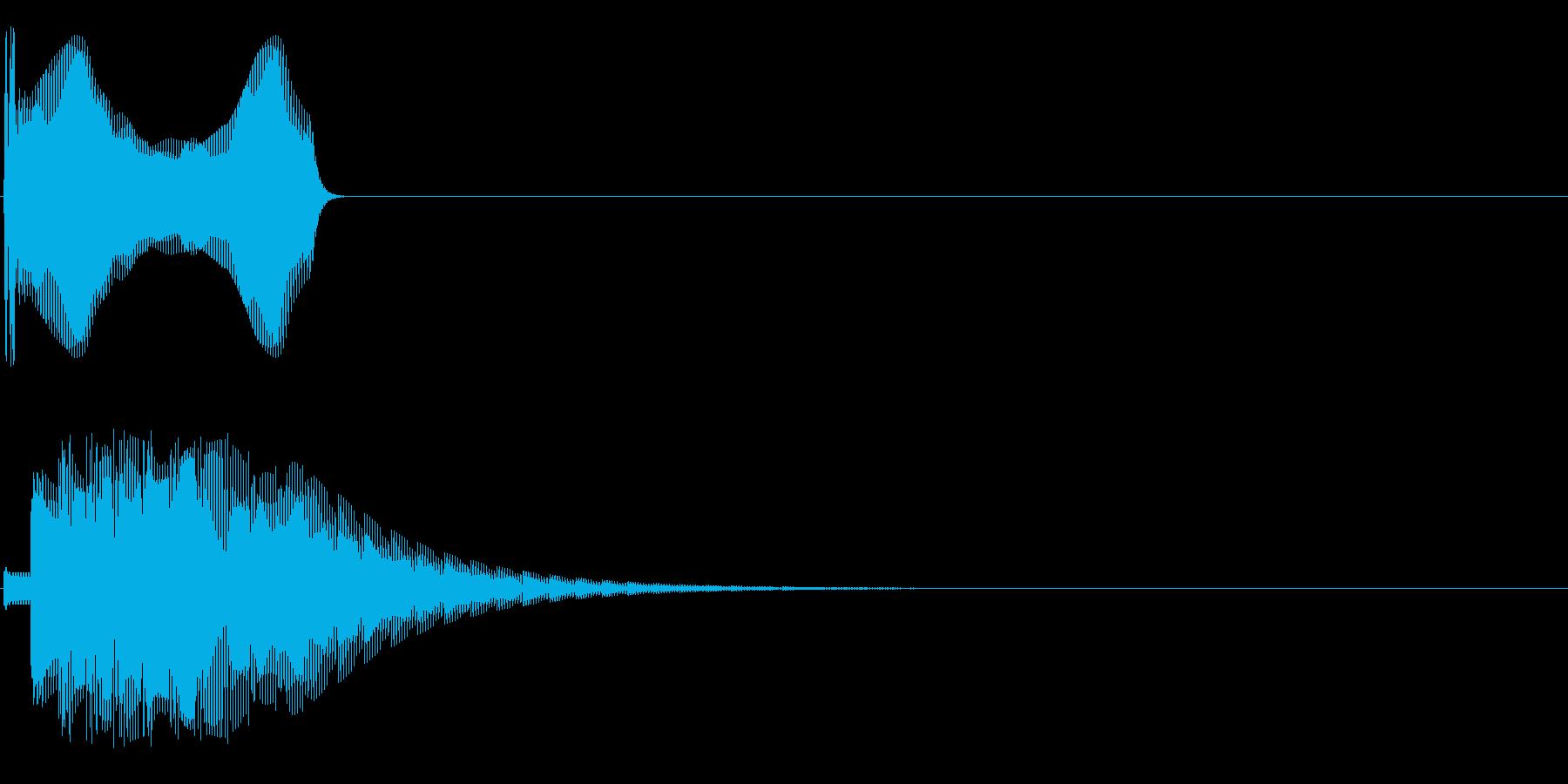 ッポォンの再生済みの波形