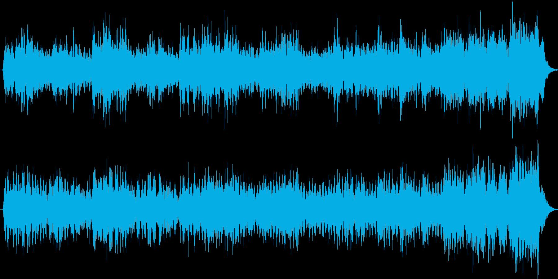 バロックの讃美歌のアカペラの再生済みの波形