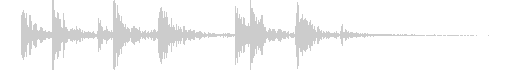 短い和風の効果音 4の未再生の波形