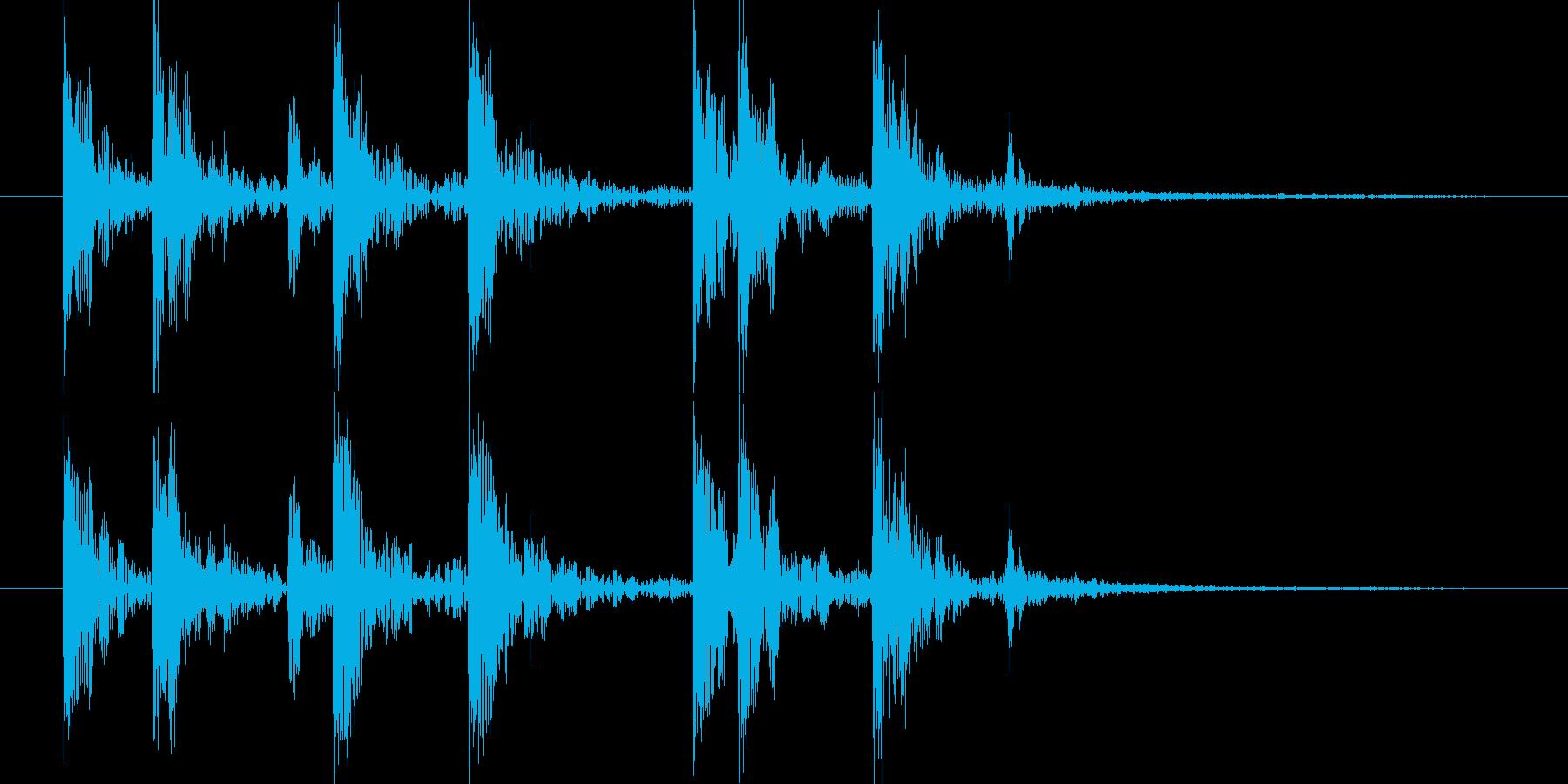短い和風の効果音 4の再生済みの波形