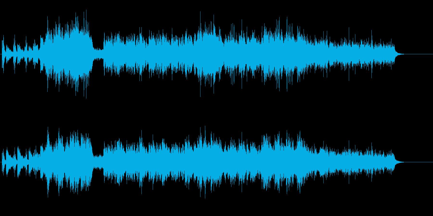 木の葉から水滴が落ちるナチュラルな曲の再生済みの波形