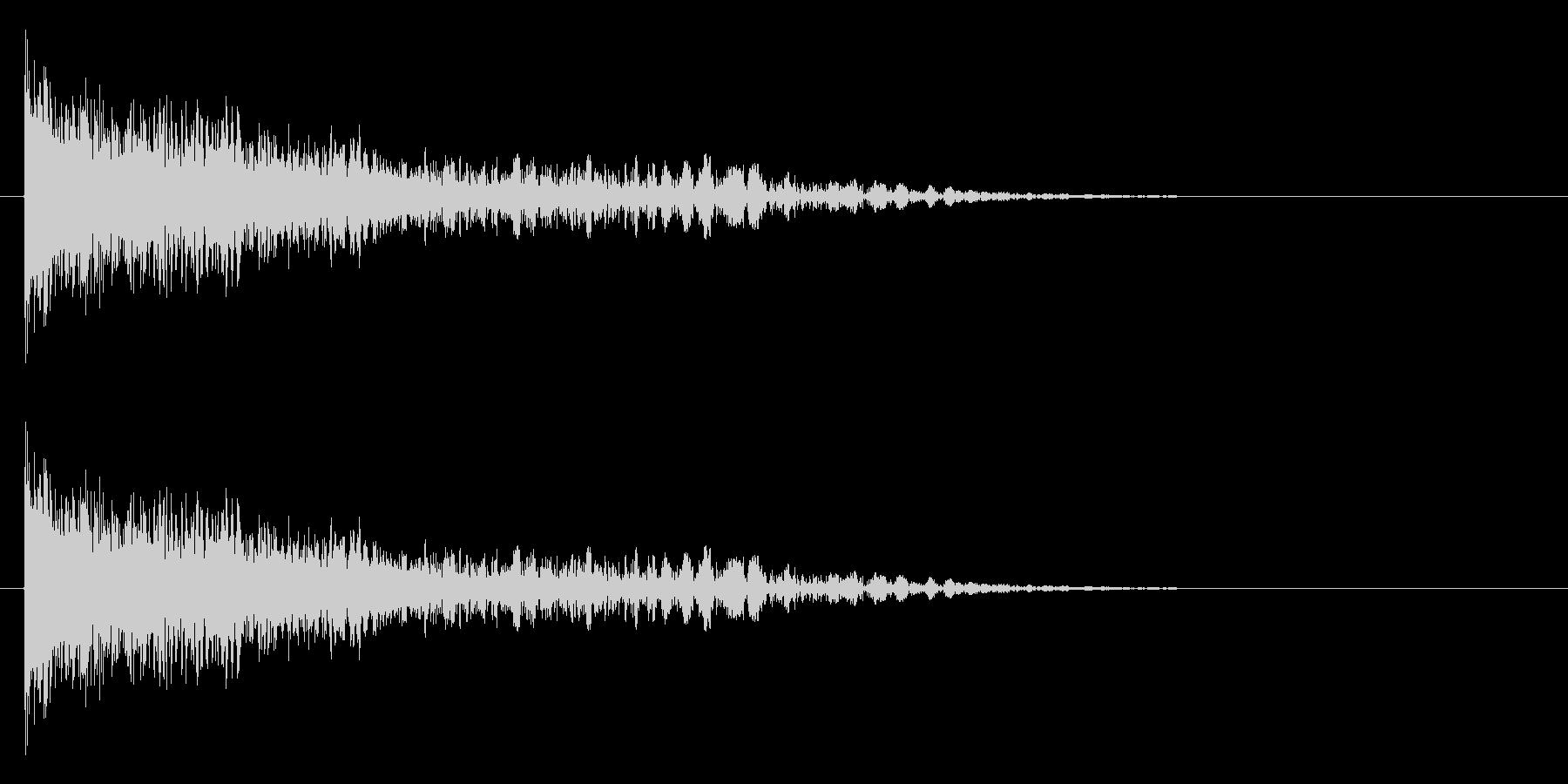 ドーン+バシューン(撃破/消滅/倒す)の未再生の波形