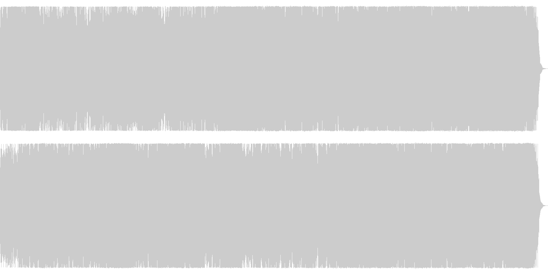 大海原を突き進むイメージのオーケストラ曲の未再生の波形