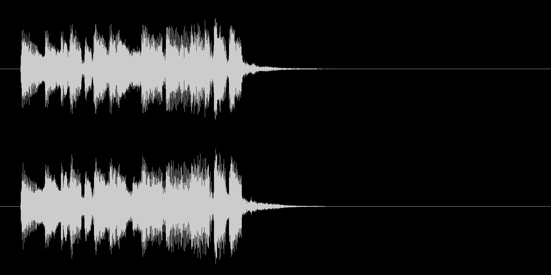 ジングル(ほのぼのアフタヌーン風)の未再生の波形