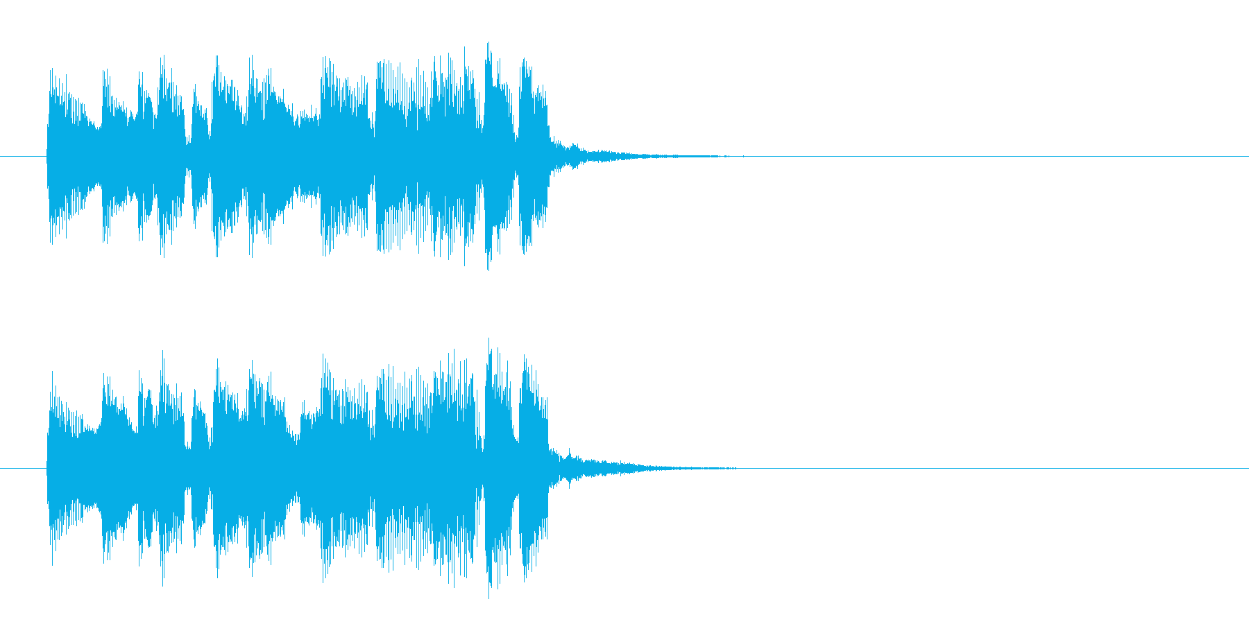 ジングル(ほのぼのアフタヌーン風)の再生済みの波形