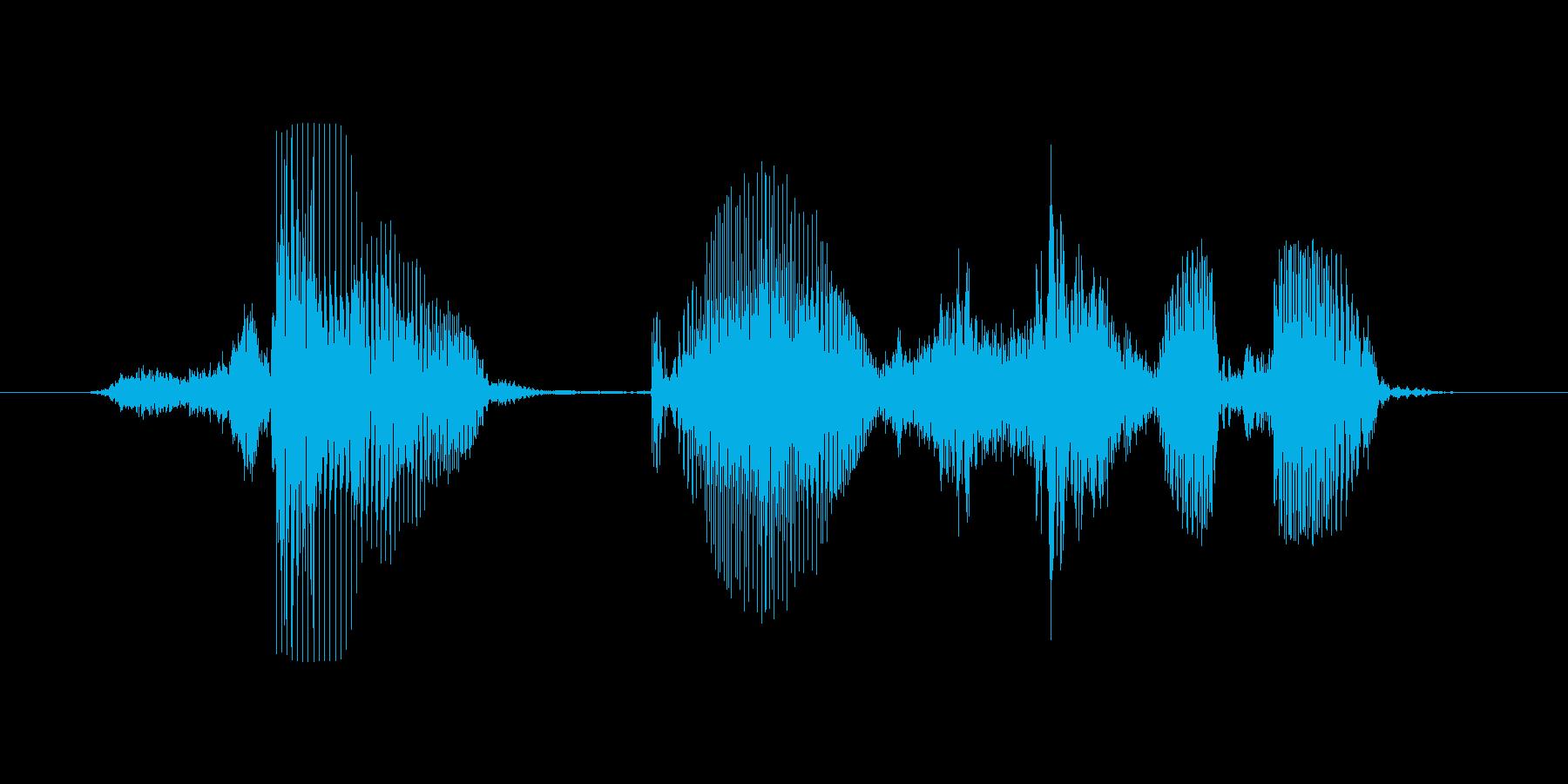 再開する(再会する)の再生済みの波形