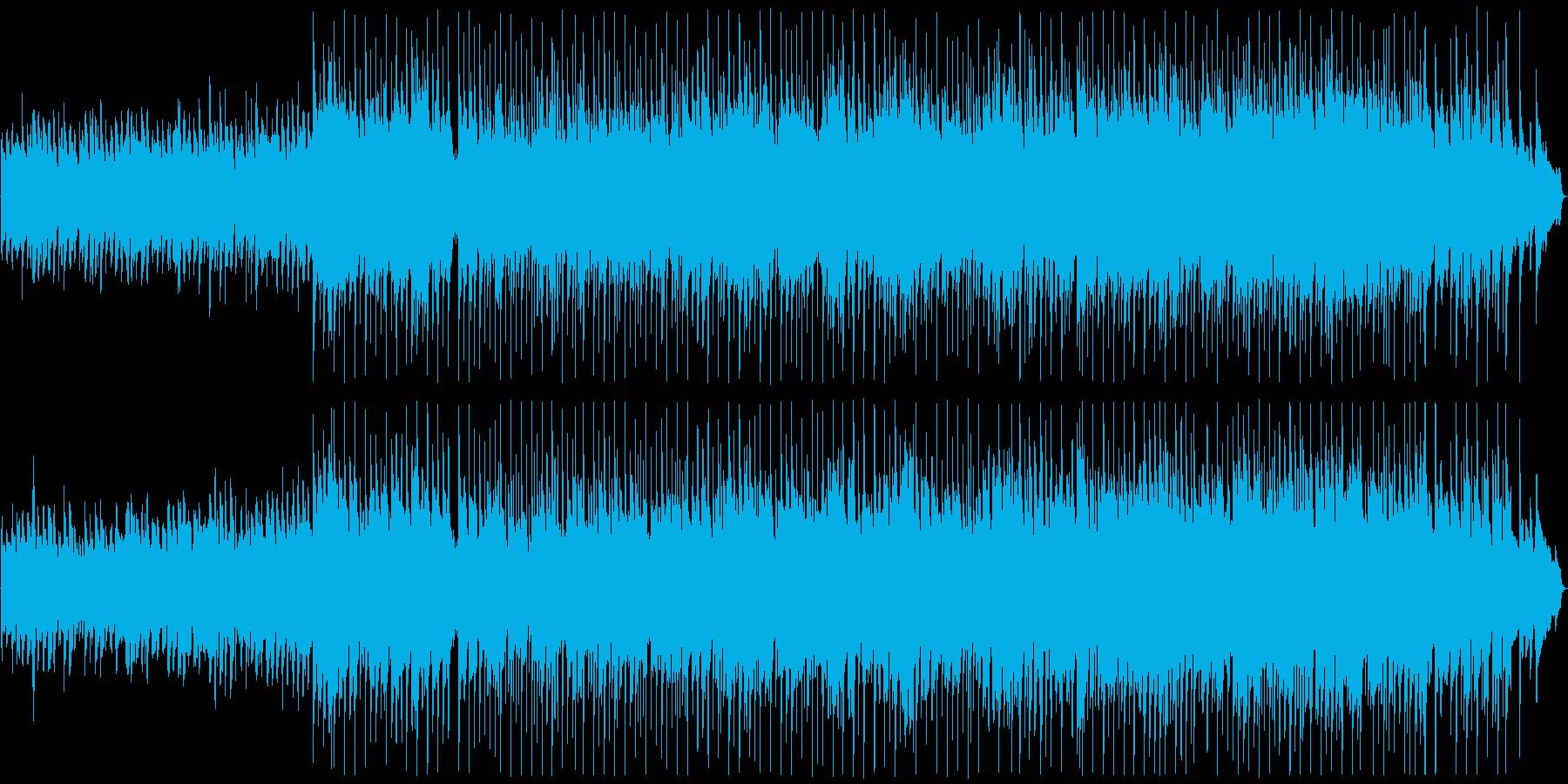 前向きな雰囲気のバラードの再生済みの波形