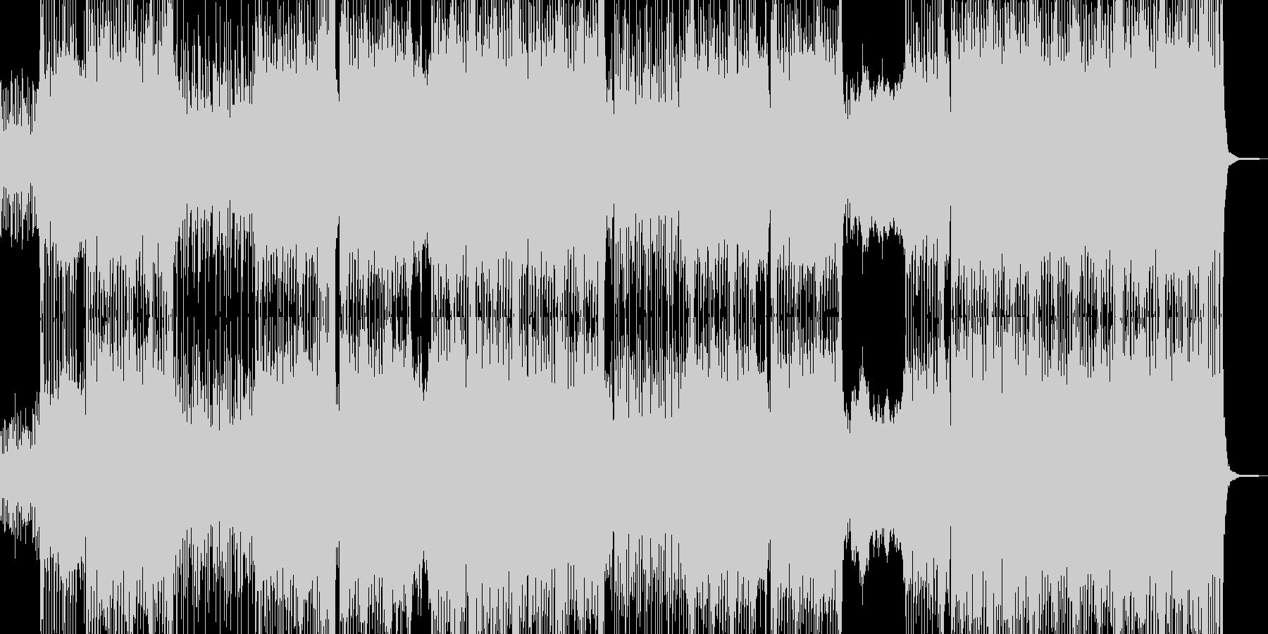 カーチェイステイストのテクノコアの未再生の波形