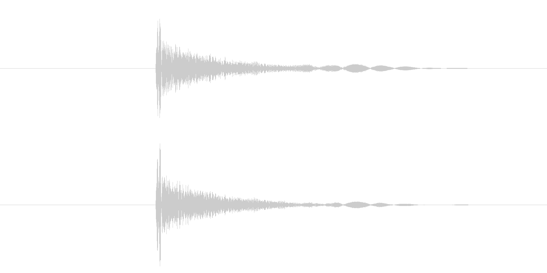 カッ/選択音/UI/木の未再生の波形