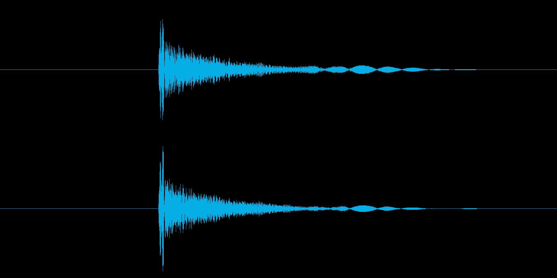 カッ/選択音/UI/木の再生済みの波形