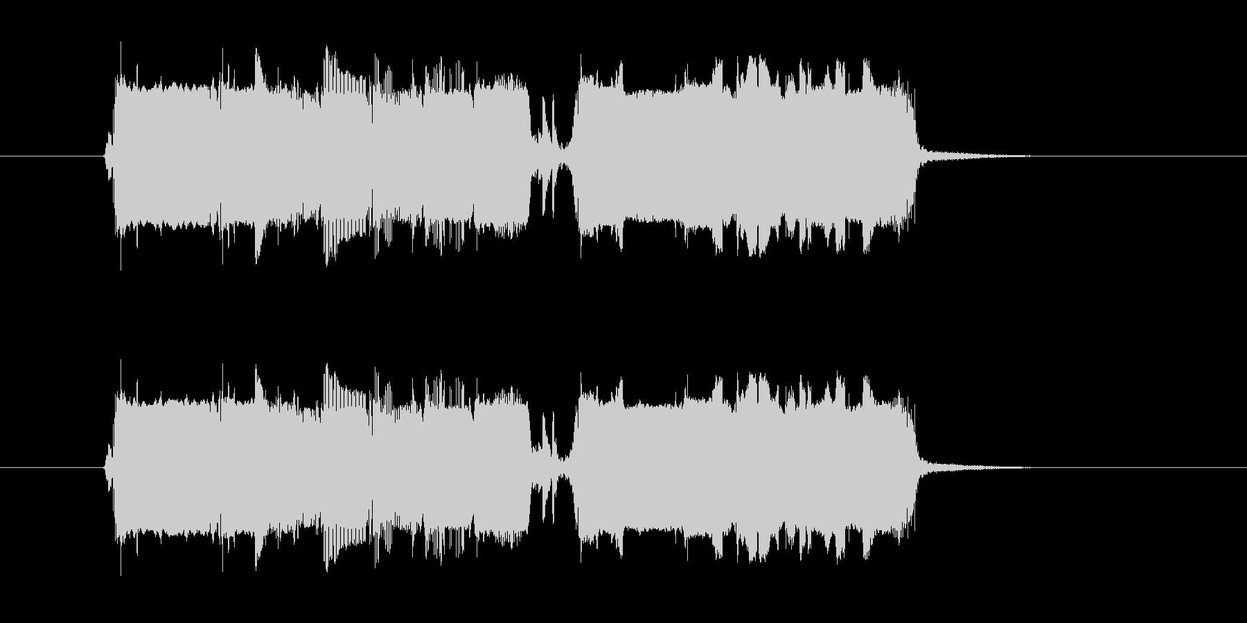 プウワー(シンセサイザーによる出現の音)の未再生の波形