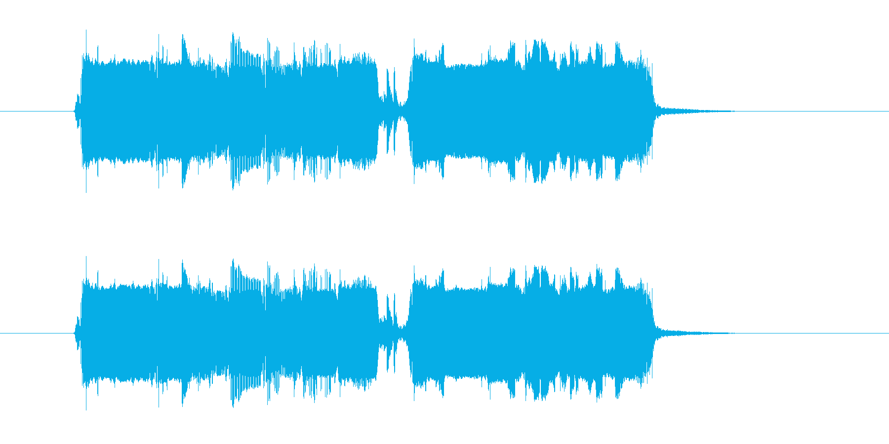 プウワー(シンセサイザーによる出現の音)の再生済みの波形