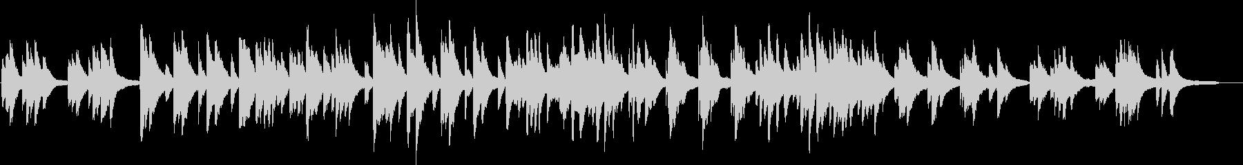 ピアノの優しい曲03の未再生の波形