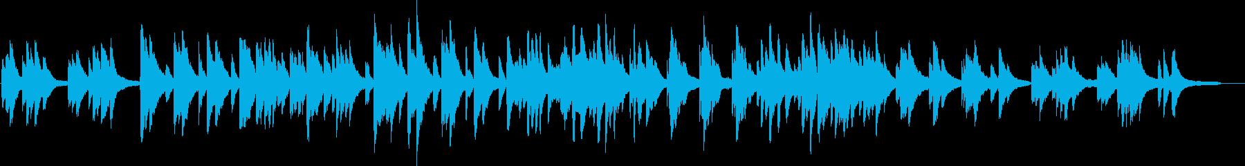 ピアノの優しい曲03の再生済みの波形