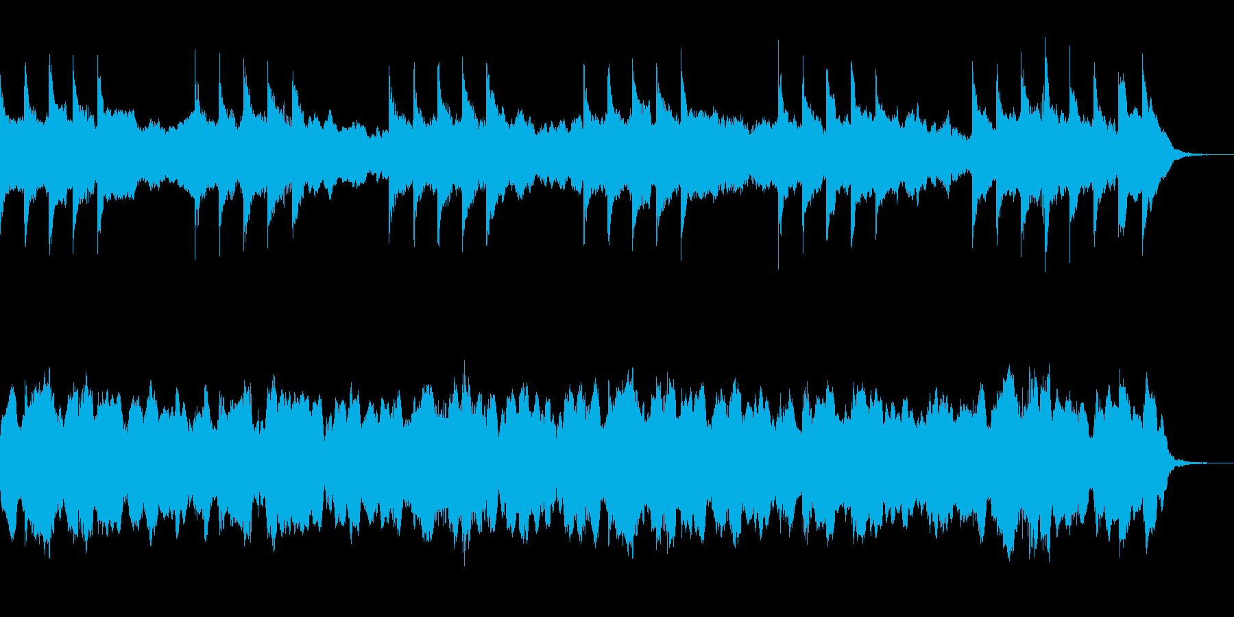 淡々と恐怖を演出するBGM ホラーな背景の再生済みの波形