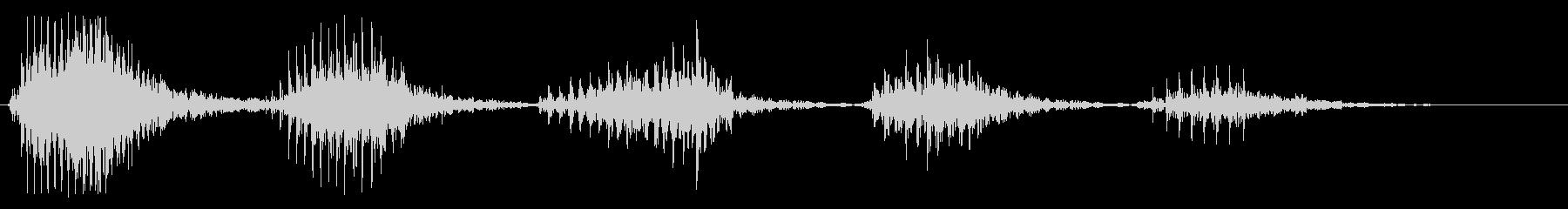 笑い声(低音、男性)の未再生の波形