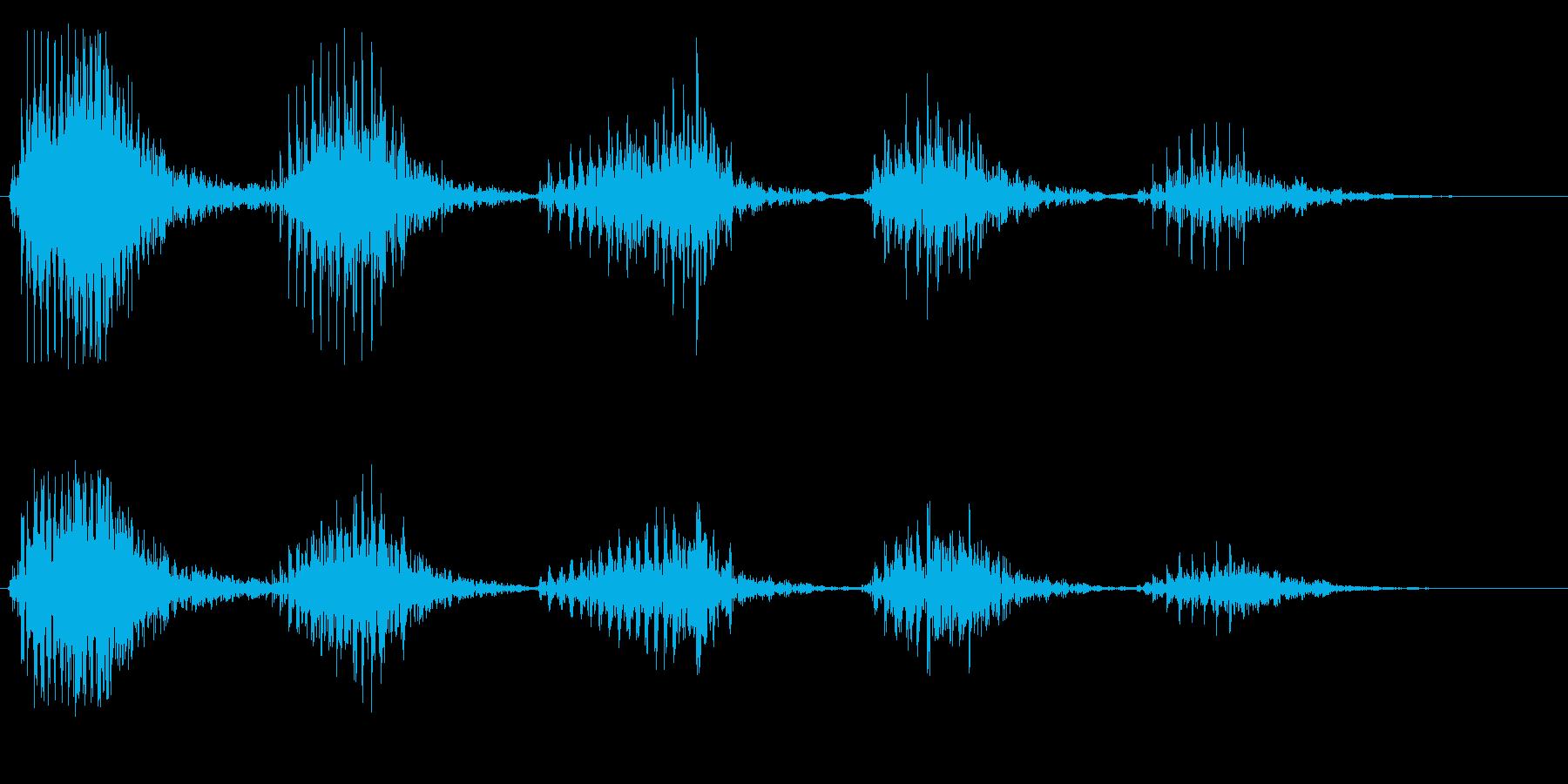 笑い声(低音、男性)の再生済みの波形