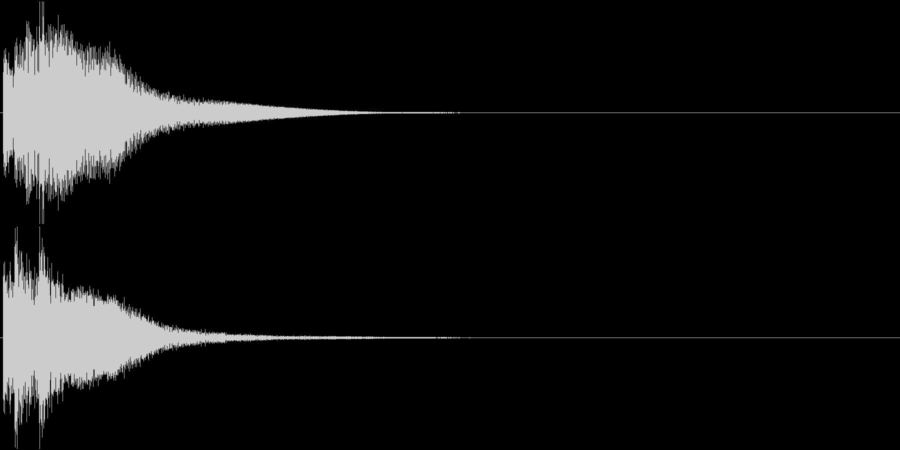 綺麗なボタン音05(ティロリン)の未再生の波形