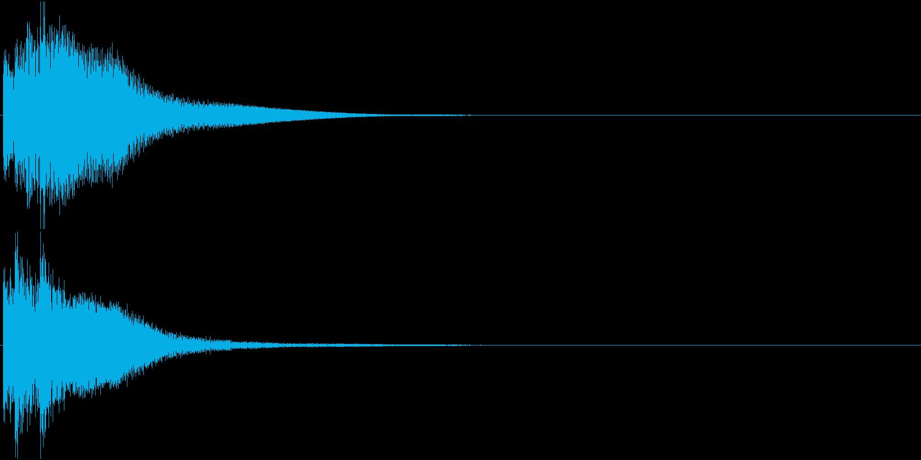 綺麗なボタン音05(ティロリン)の再生済みの波形