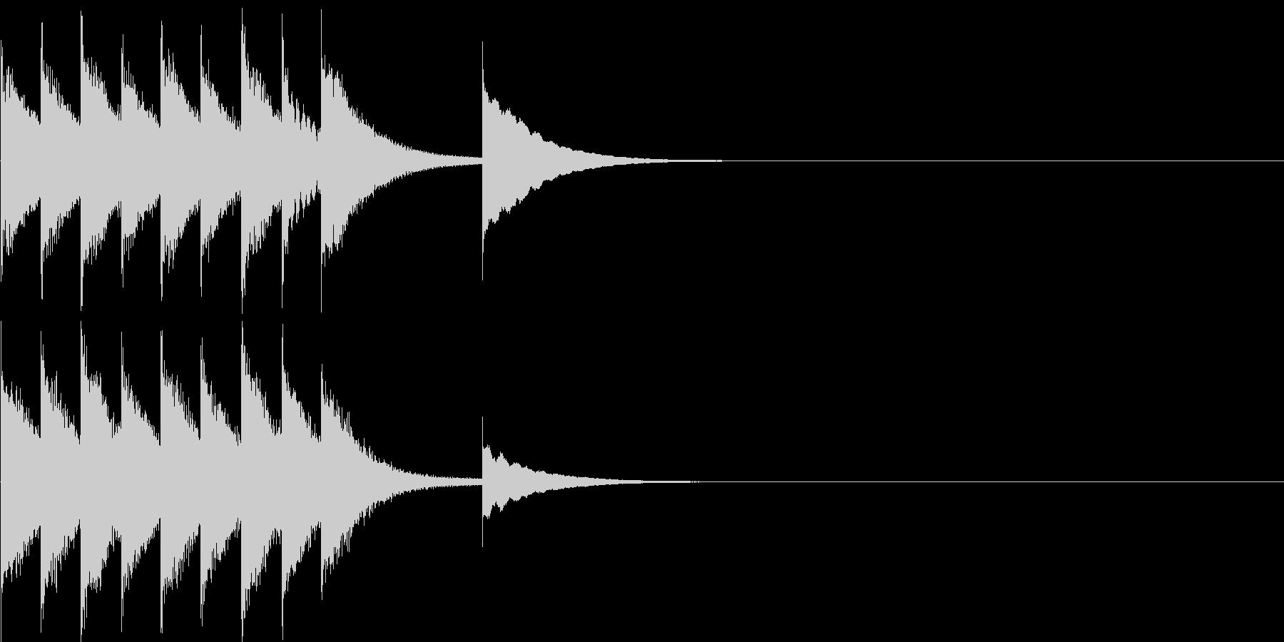 ステージクリア、レベルアップのジングルの未再生の波形