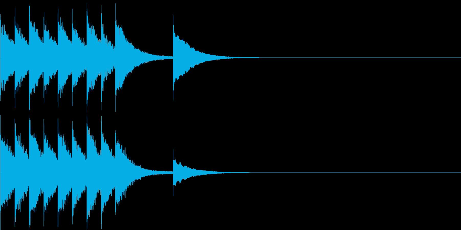 ステージクリア、レベルアップのジングルの再生済みの波形