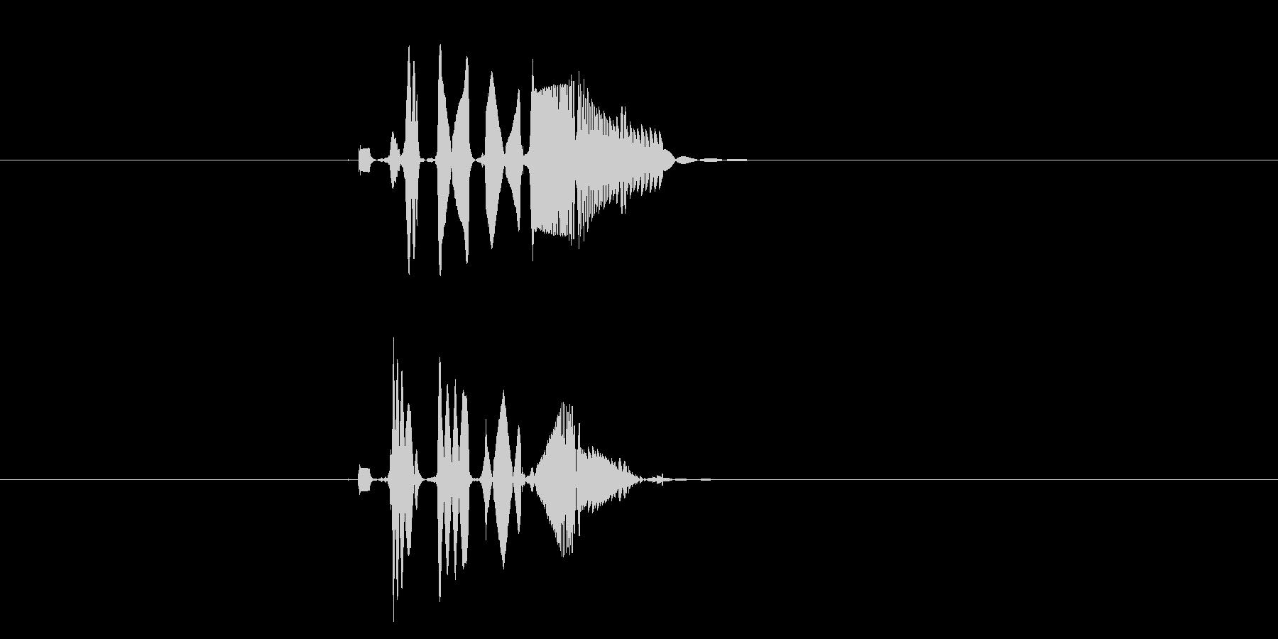 ピヒューンと聞こえる効果音の未再生の波形