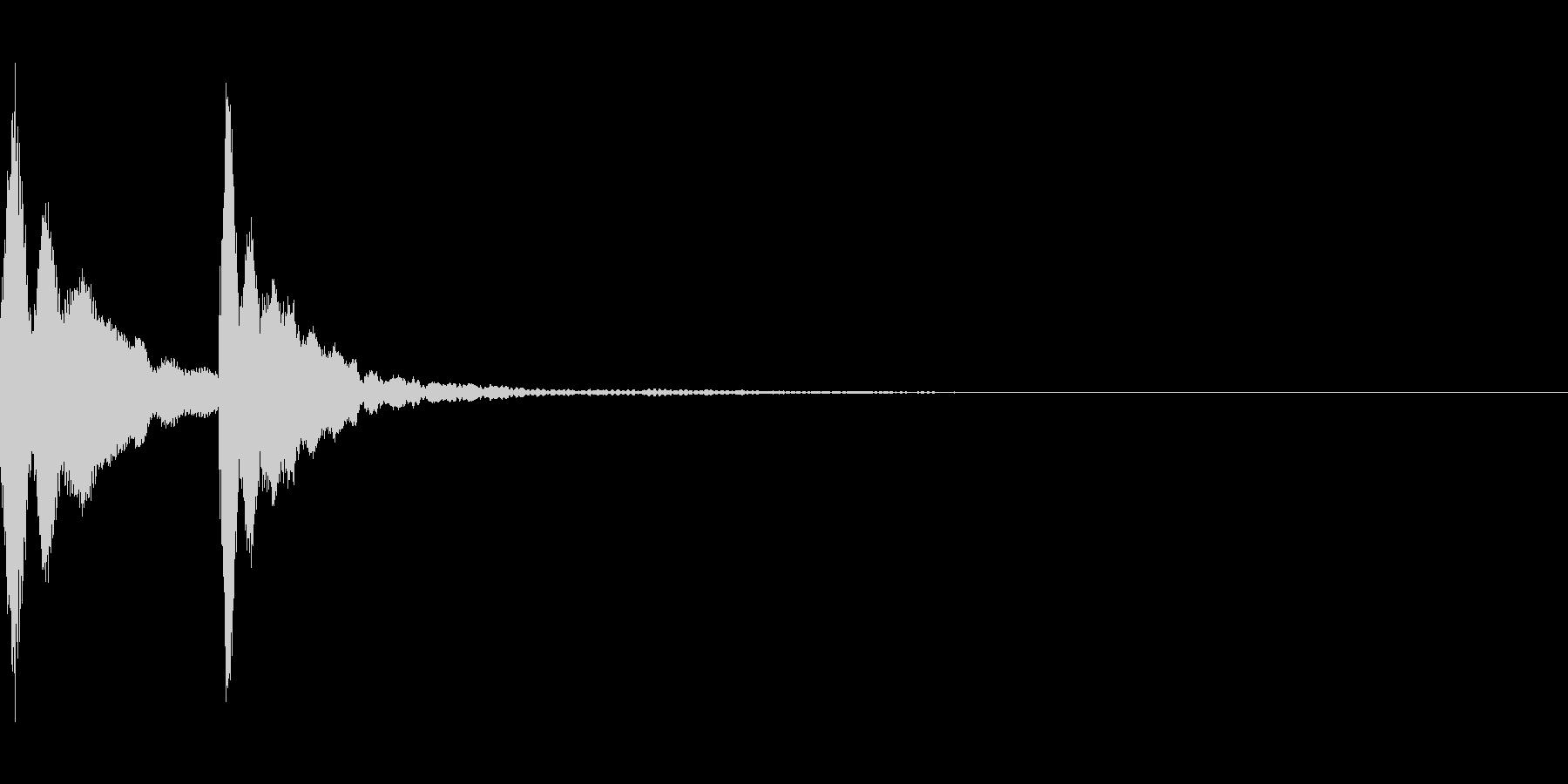 アゴゴベル。コミカルな音。「コテン」の未再生の波形