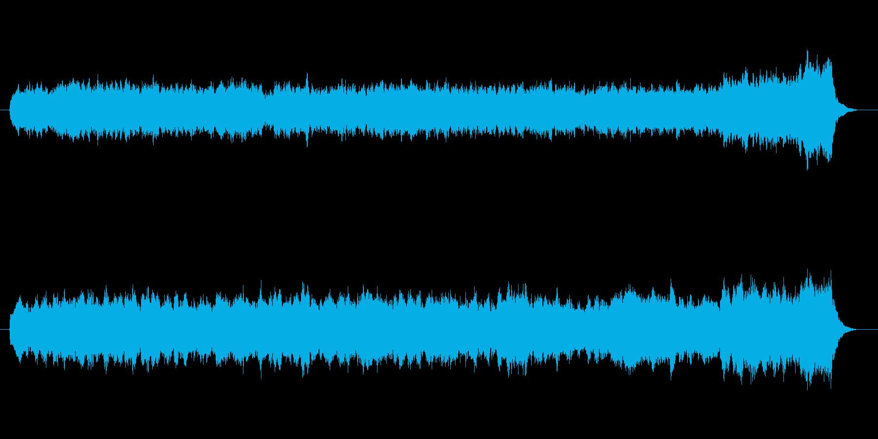 パイプオルガンのオリジナル曲。荘厳な曲の再生済みの波形