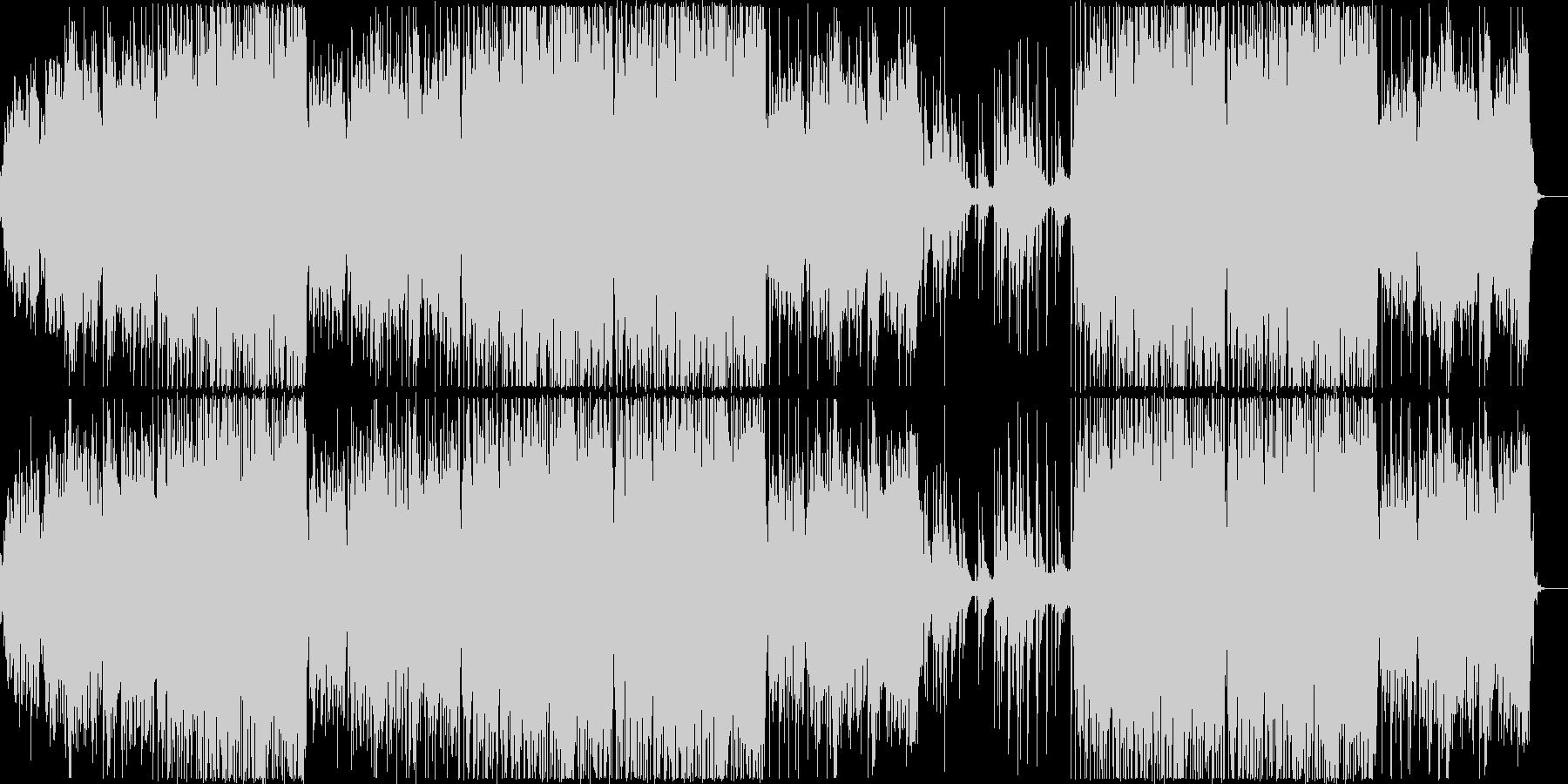 リラックスできるチル系ハウスの未再生の波形