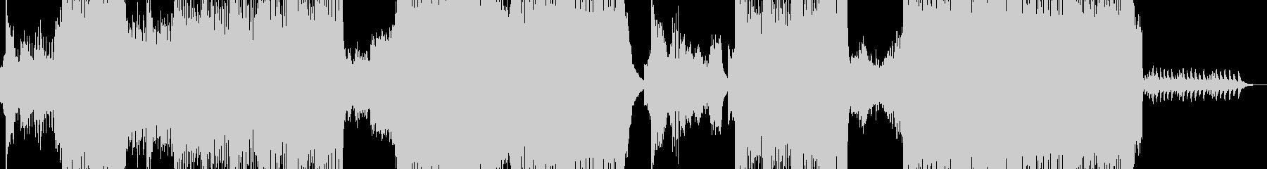 攻撃的なエレキハードコアの未再生の波形