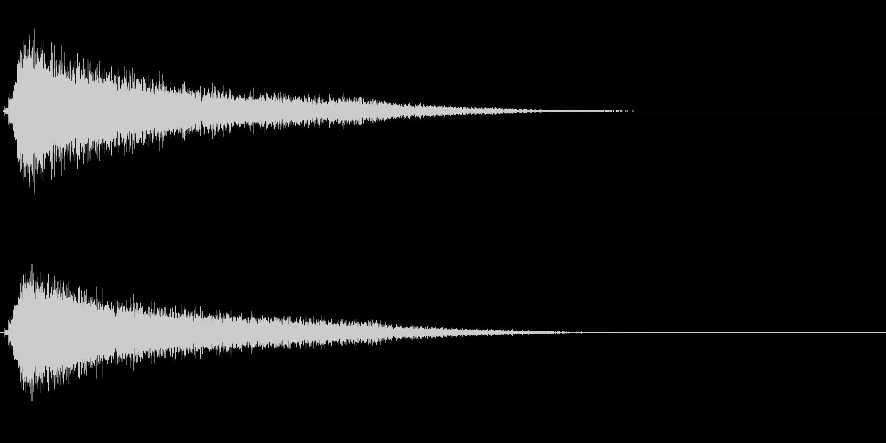 サスペンスに最適!ピアノの弦を弄ぶ音22の未再生の波形
