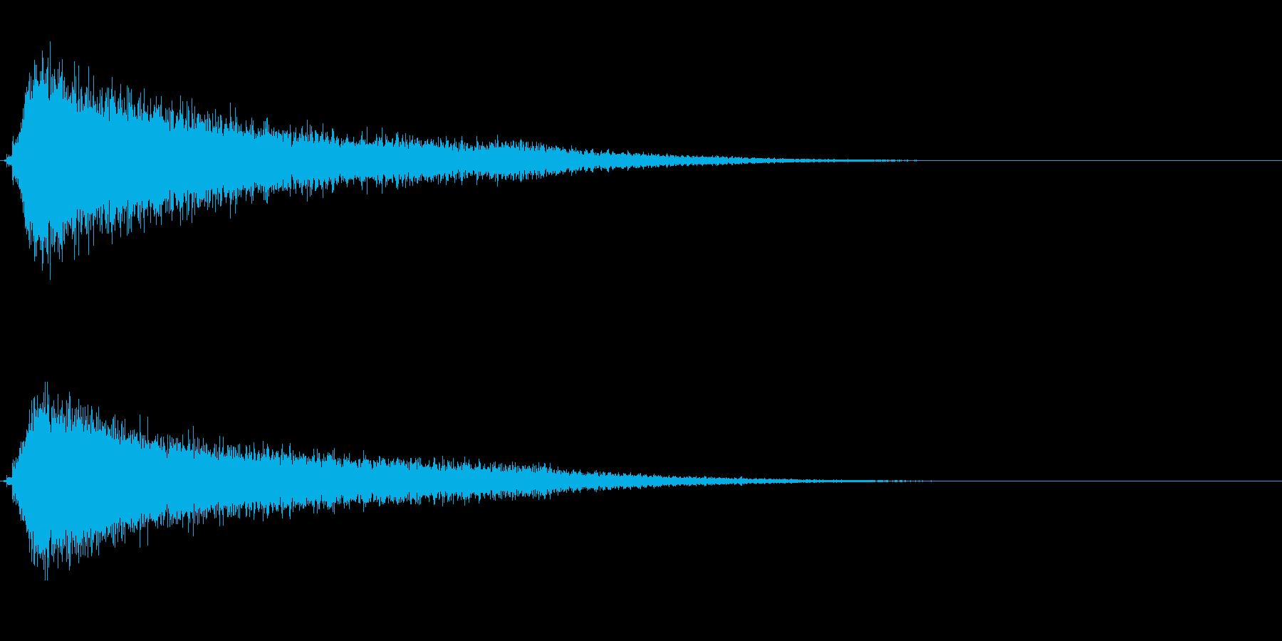 サスペンスに最適!ピアノの弦を弄ぶ音22の再生済みの波形
