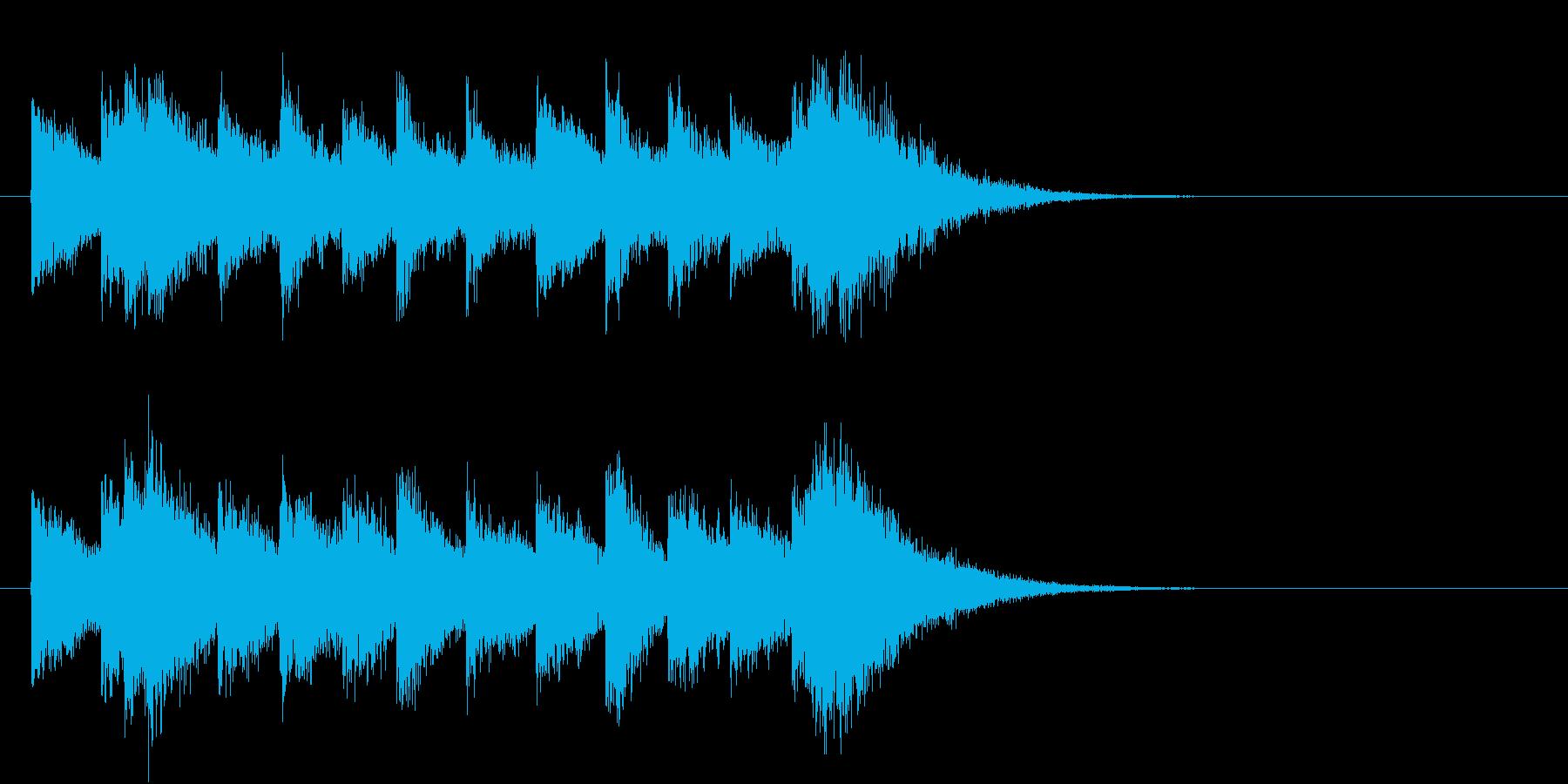 電車の発車・到着ジングル-06(5秒)の再生済みの波形