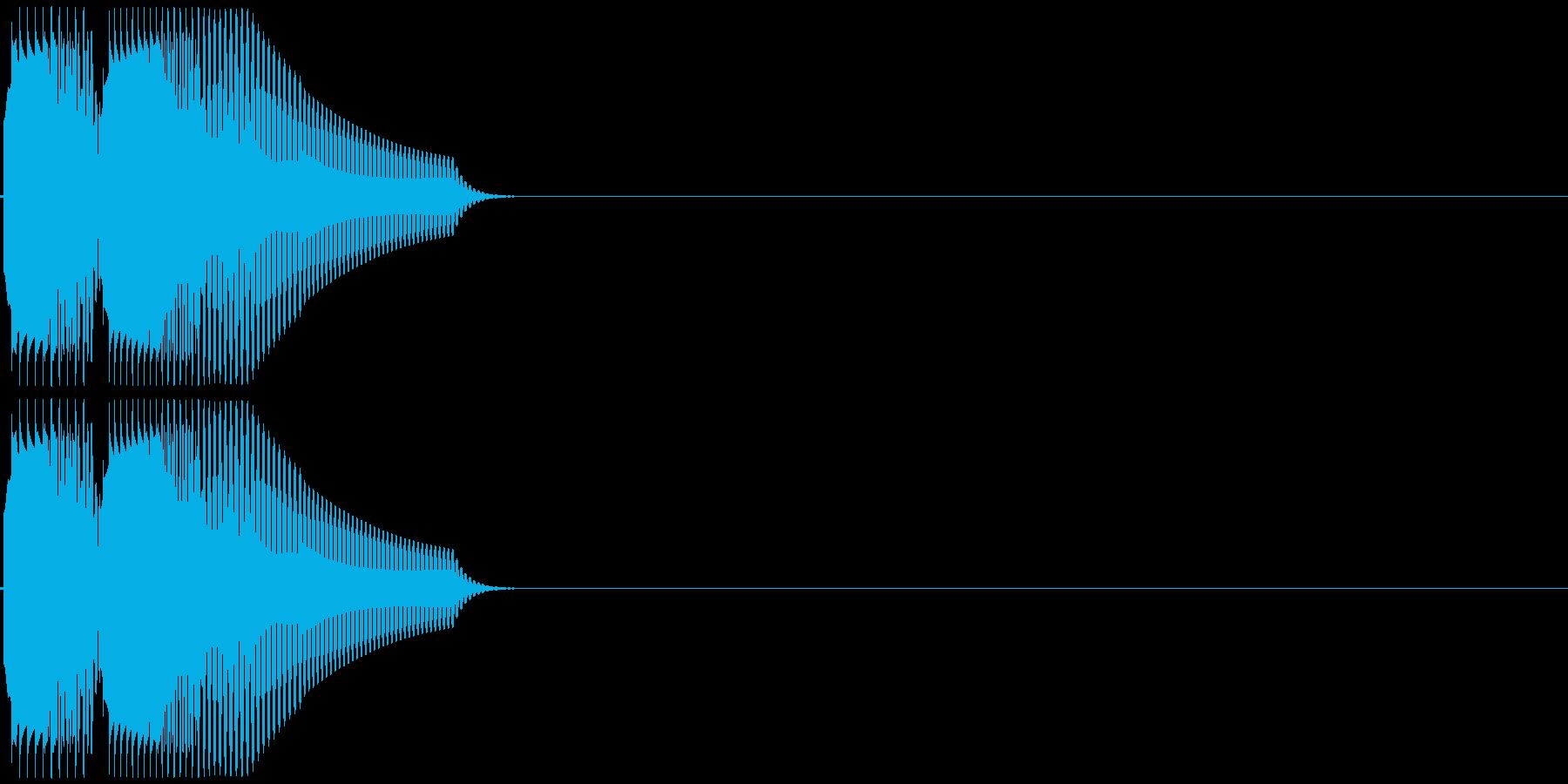 ポロリ(低音系、電子音)の再生済みの波形