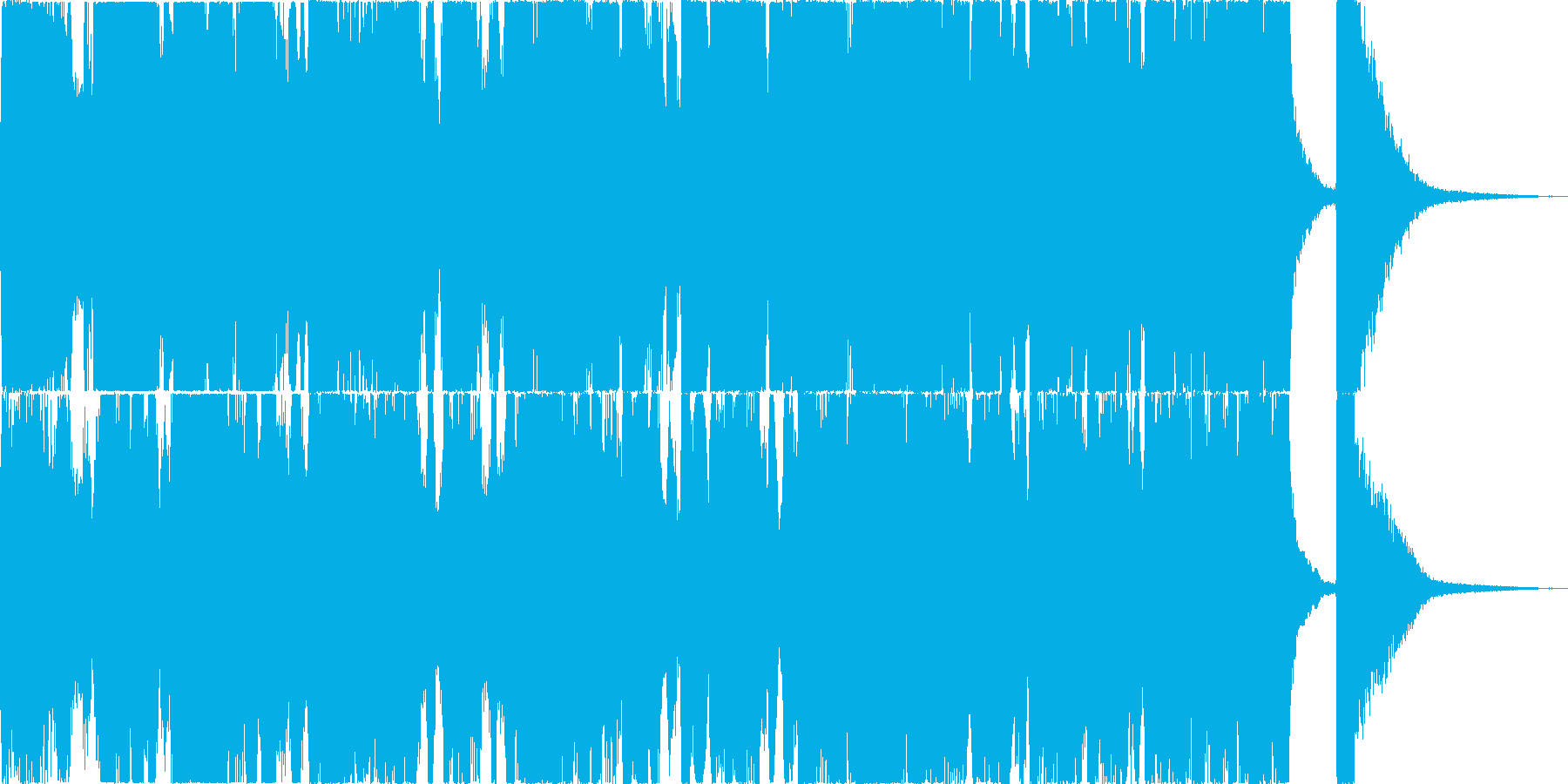 セレモニーBGMの再生済みの波形