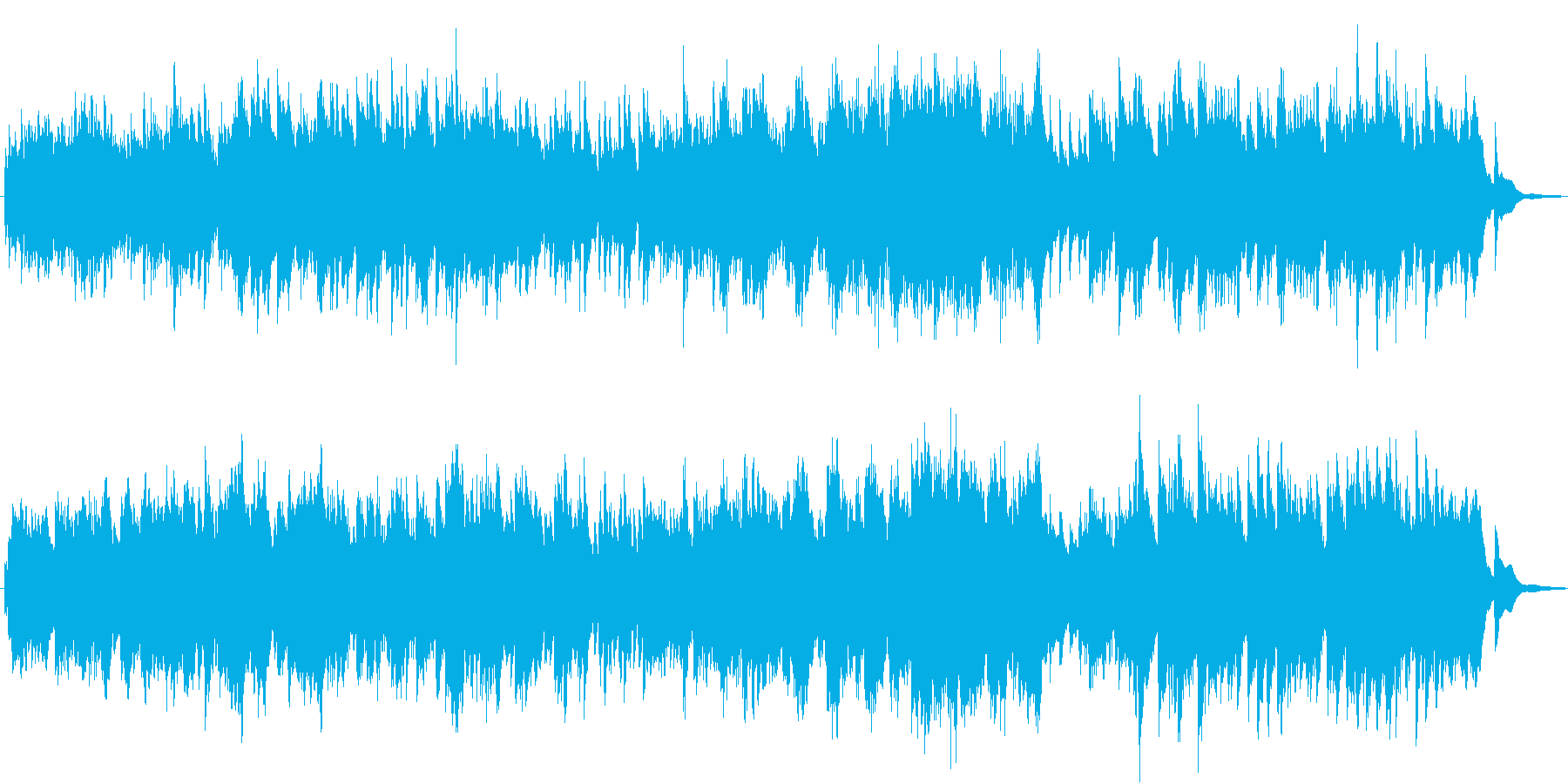 夢見る美しい曲、アラベスクをハープでの再生済みの波形